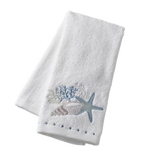 Seashell Embroidered Hand Towel