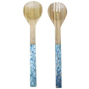 Salad Servers Soft Blue Set/2
