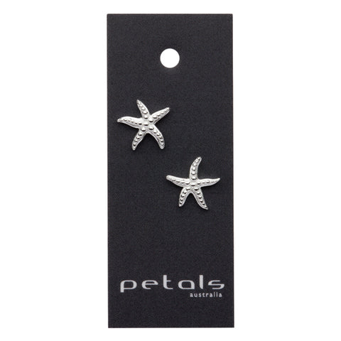 Sterling Silver Earrings Starfish