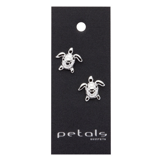 Sterling Silver Earrings Turtle