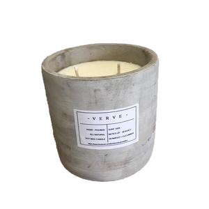Verve Concrete Candle Surfside