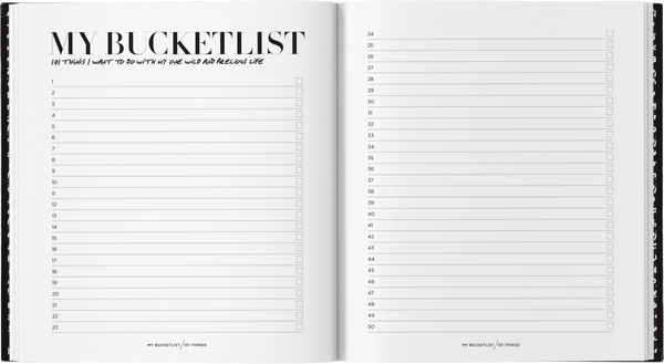 """My BUCKETLIST"" Journal"