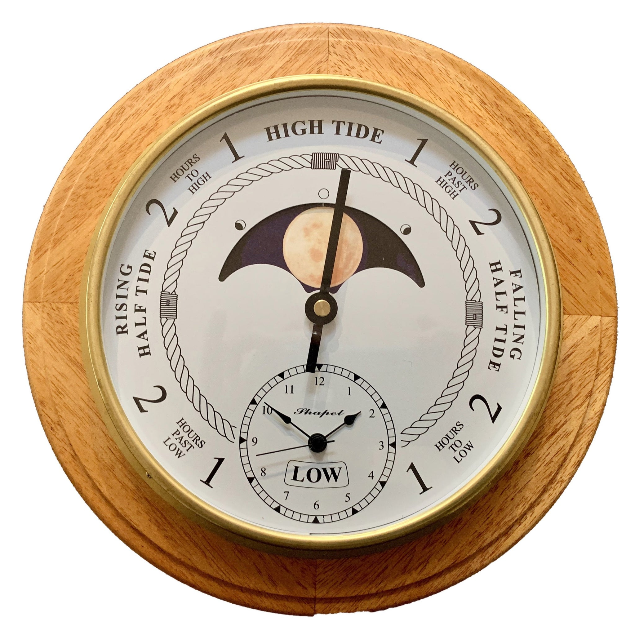 Tide Time Moon Clock Woodgrain