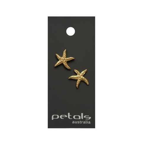 Gold Plated Earrings Starfish
