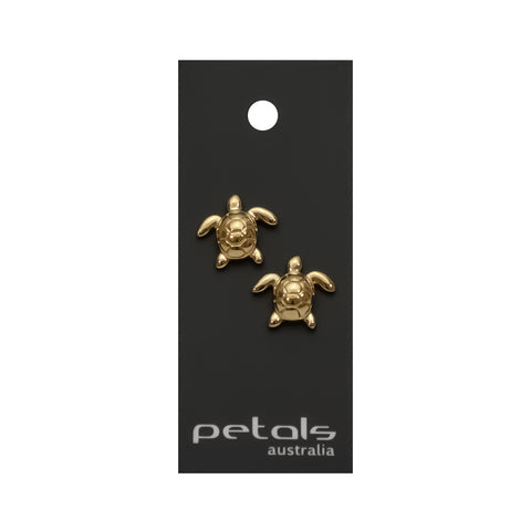Gold Plated Earrings Turtle