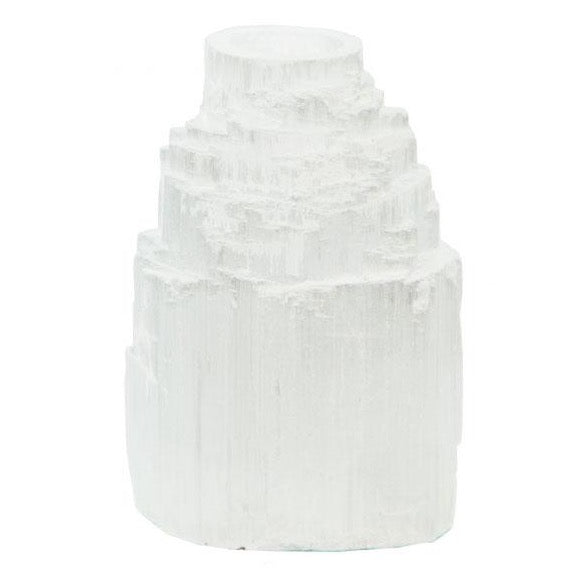 Selenite Candle Holder I
