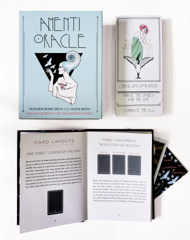 Amenti Oracle Feather Heart Deck and Guide Book