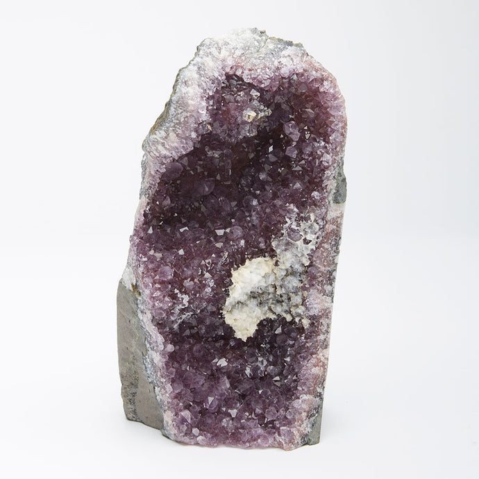 Amethyst Druzy with Calcite Stand Up