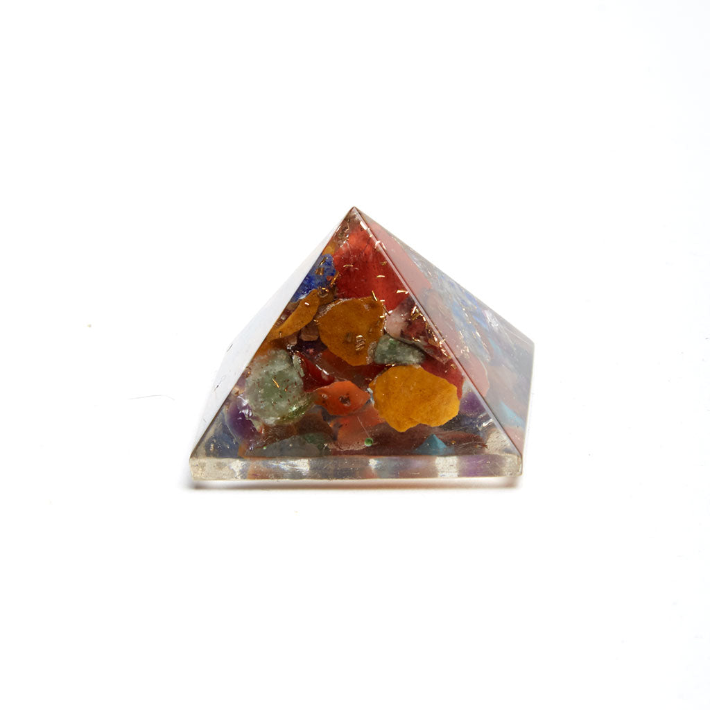 Orgonite Pyramid with Mixed Stones