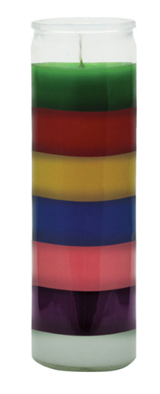 Plain 7 Color Candle
