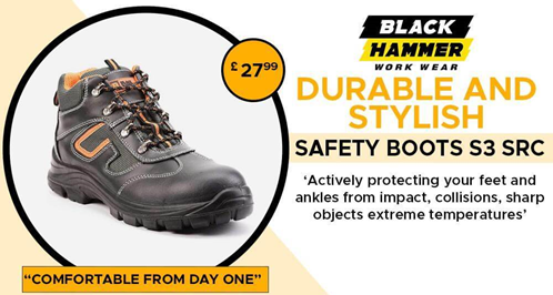 Black Hammer Work Wear: The Safety Boot Expert