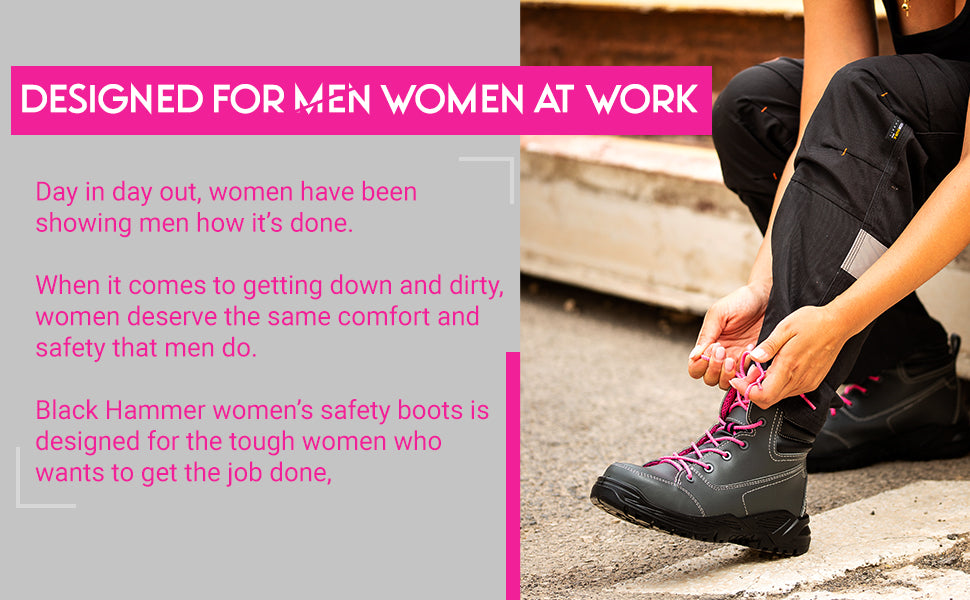 Our safety boots are designed for women at work
