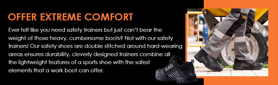safety trainers that offers extreme comfort