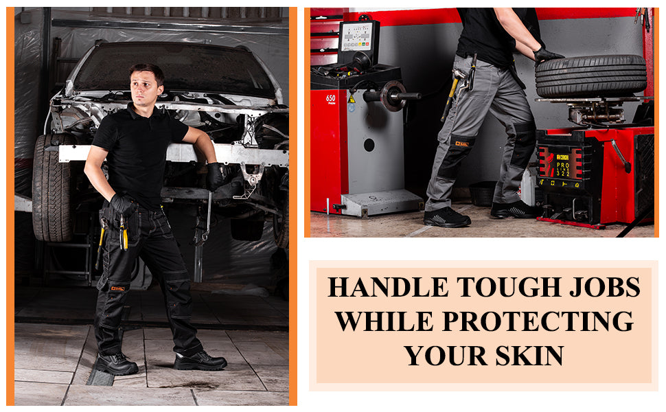 Work trousers for protecting skin