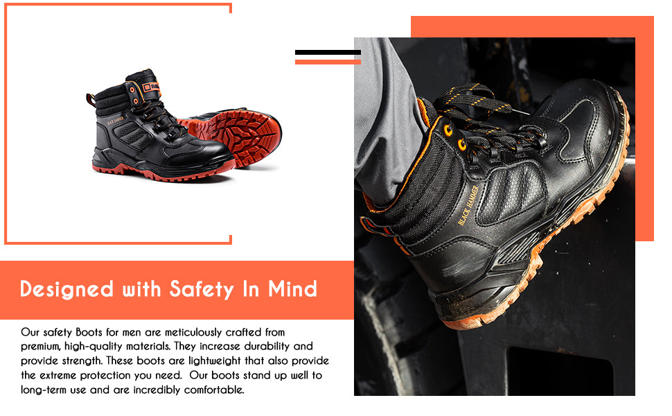 Our safety boots are designed with safety in mind