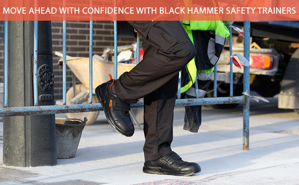 Wear confidently these Black Hammer Safety Trainers