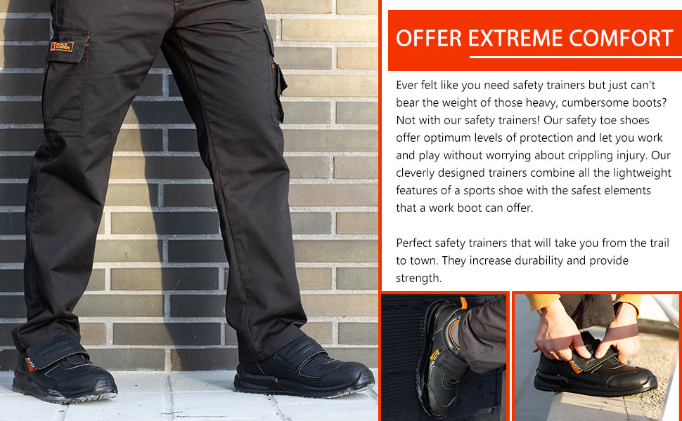 walk freely with these safety trainers that will provide you comfort and protection