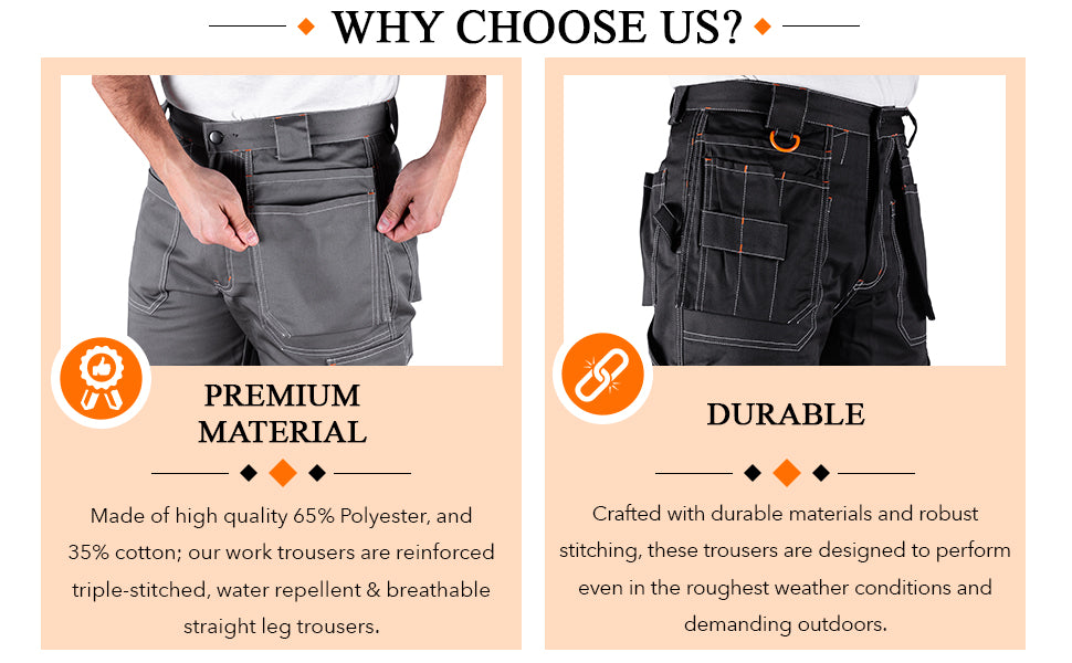 Durable and premium quality men's trousers