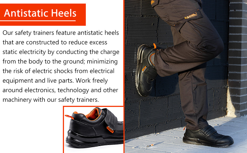 Work freely around electronics with these safety boots