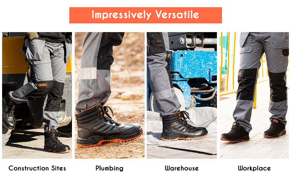 These mens work boots are versatile