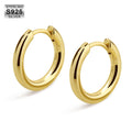 15mm Hoop Earrings in 925 Sterling Silver-krkcom