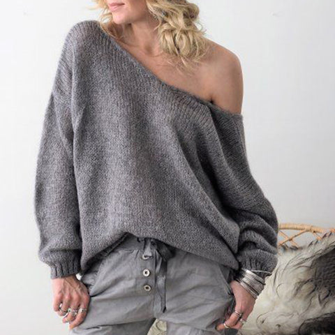 Loose Off-The-Shoulder Sweater