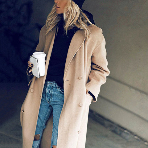 Fashion Casual Classic Wild Lady Overcoats