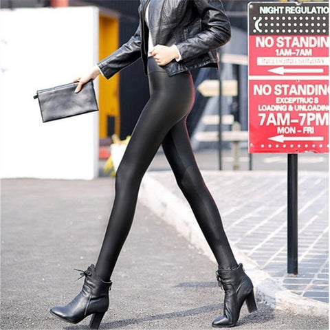 PU Matte Stretch Leather Pants