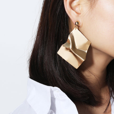 Fashion Geometric Irregular Mirror Earrings