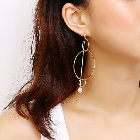 Fashion Geometric Element Earring