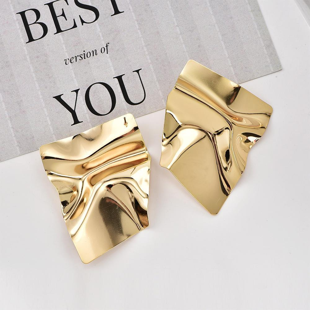 Lava Metal Geometric Irregular Women's Earrings