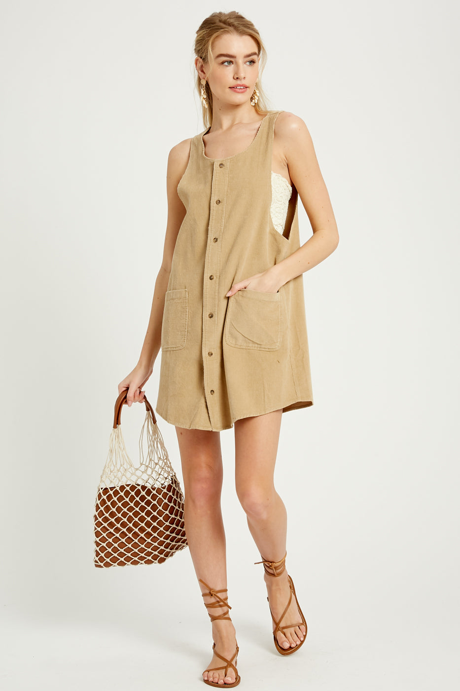 Corduroy Jumper Dress - Dalton Boutique