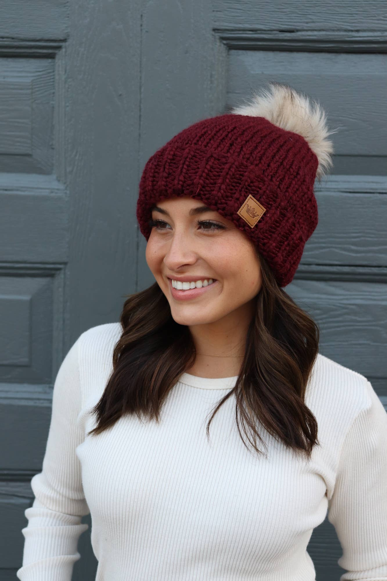 Fleece Lined Pom Beanie