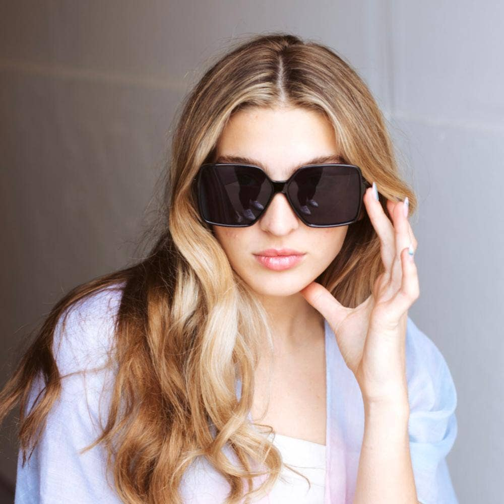 Hanna Hexagon Frame Sunglasses