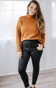 Ultra High Rise Black Jeans - Dalton Boutique