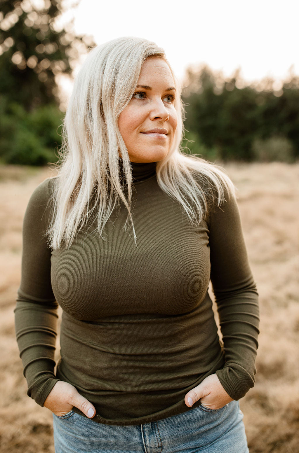 Long Sleeve Turtleneck - Olive