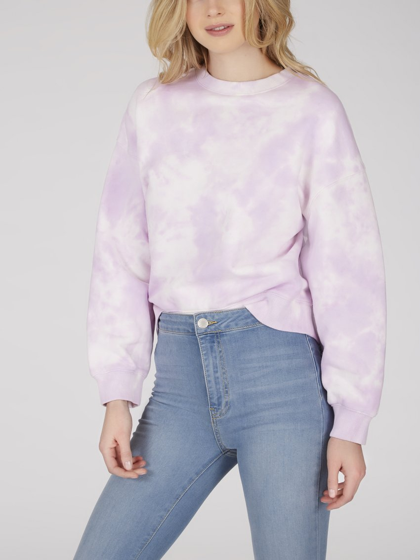 Lilac Dreams Tie Dye Sweatshirt - Dalton Boutique
