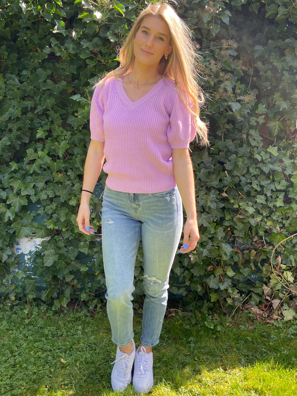 Debbie High Rise Slim Mom Jean in Daydream - Dalton Boutique