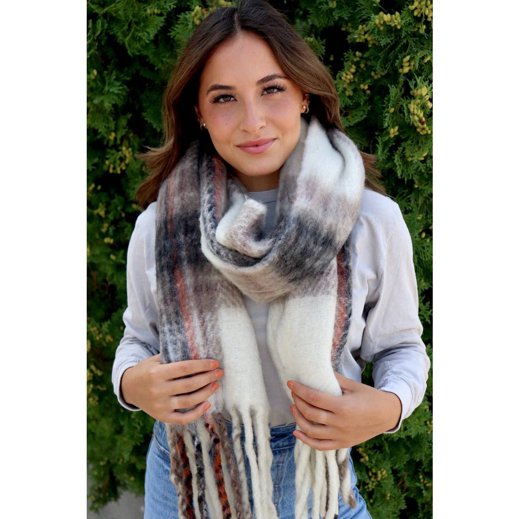 Multi Color Fringe Scarf