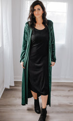 Billie Emerald Green Duster - Dalton Boutique