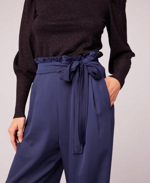 Bienvenue Navy Wide Leg Pant - Dalton Boutique