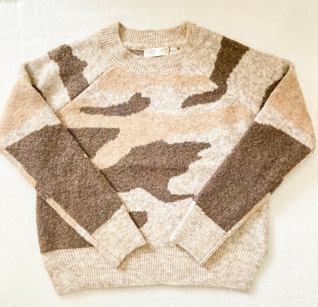 Neutral Camo Pullover - Dalton Boutique