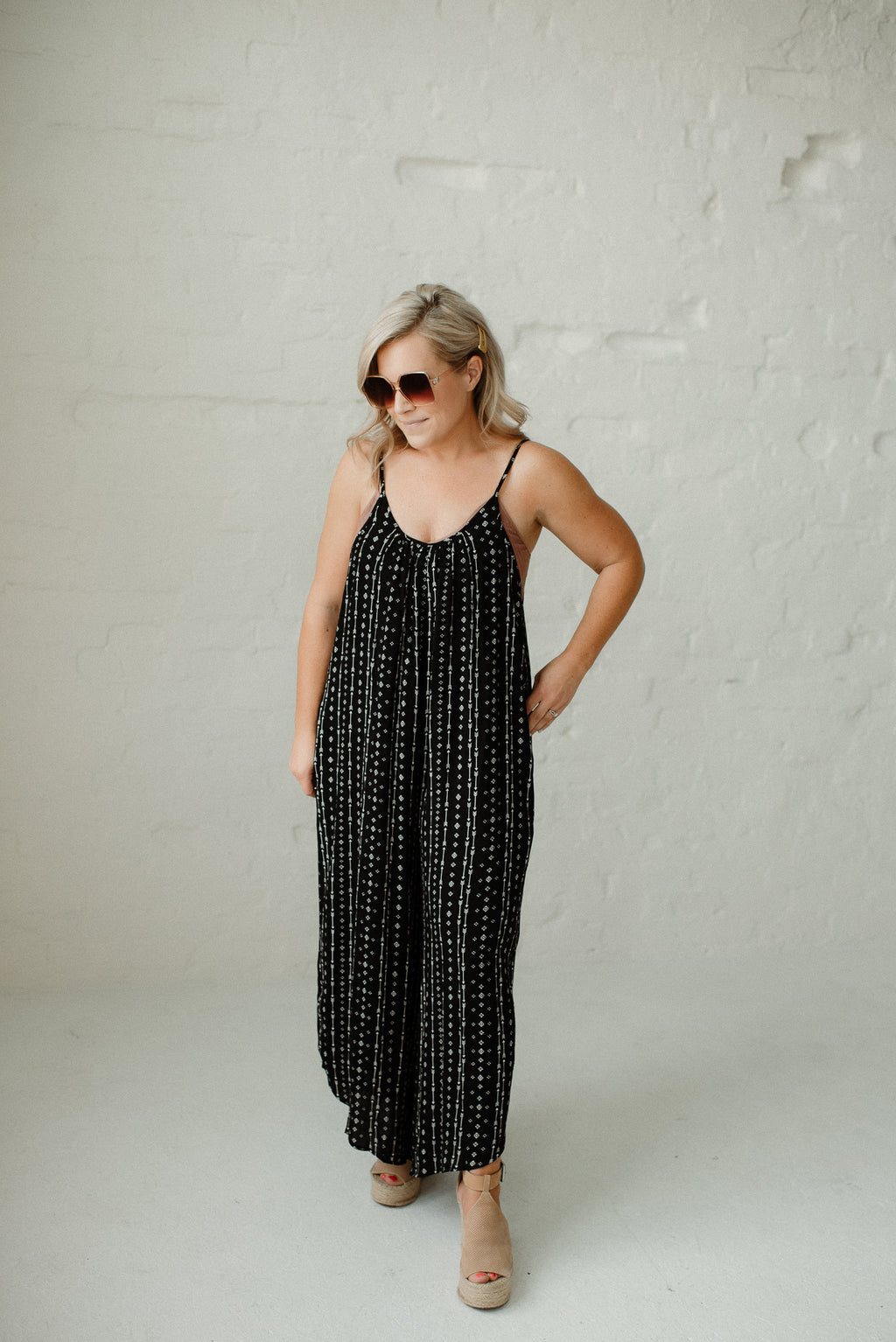 Relaxed Fit Black Jumpsuit