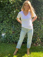 Relaxed Fit Organic White Tee - Dalton Boutique