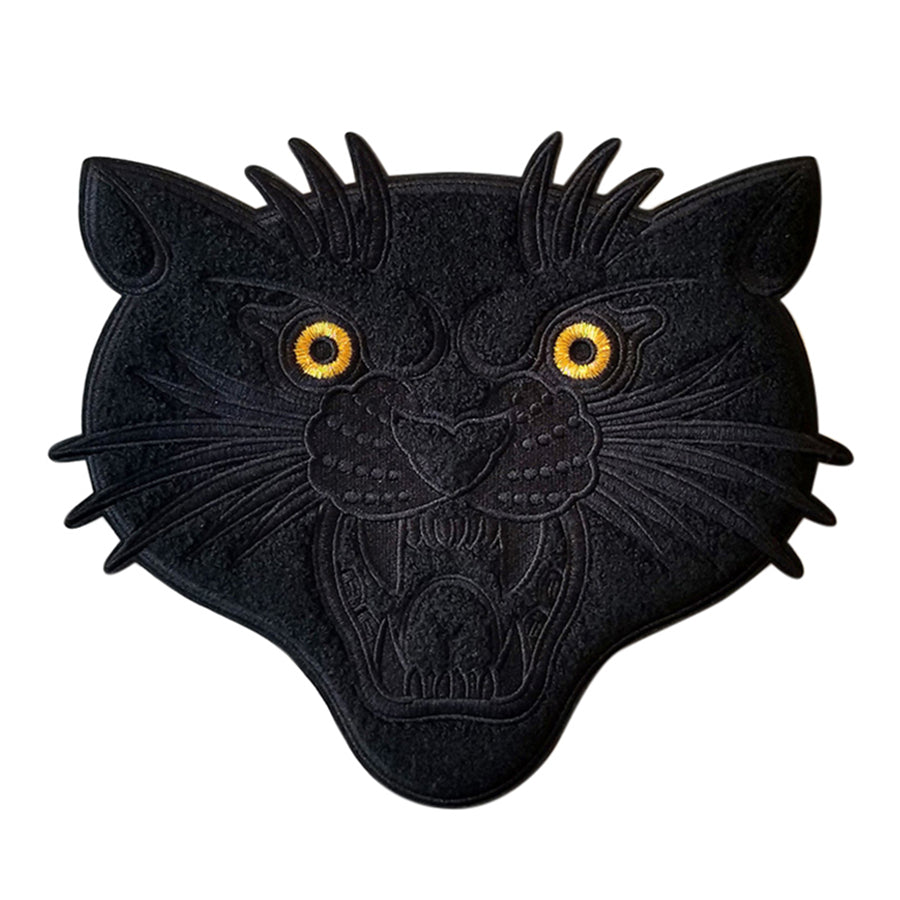 Black on Black Chenille Panther Back Patch