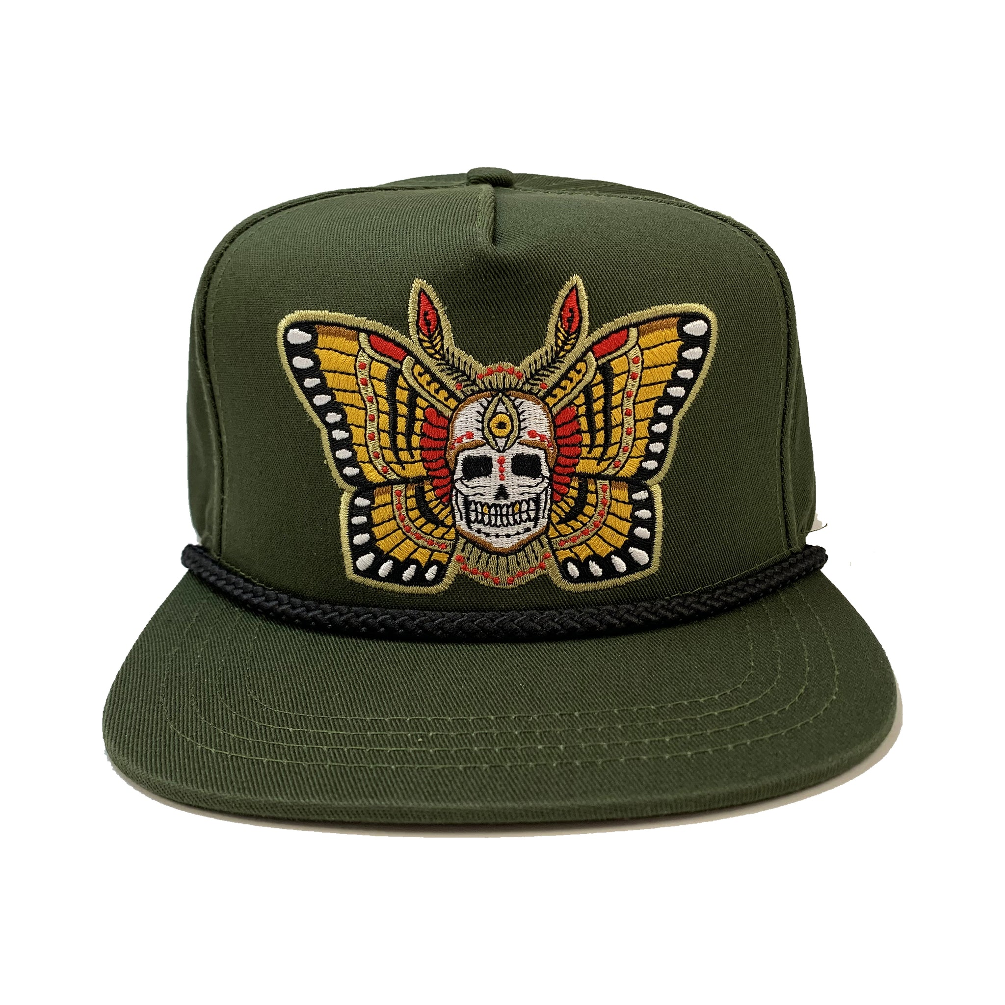 Butterfly Skull Poplin Cap (Structured)