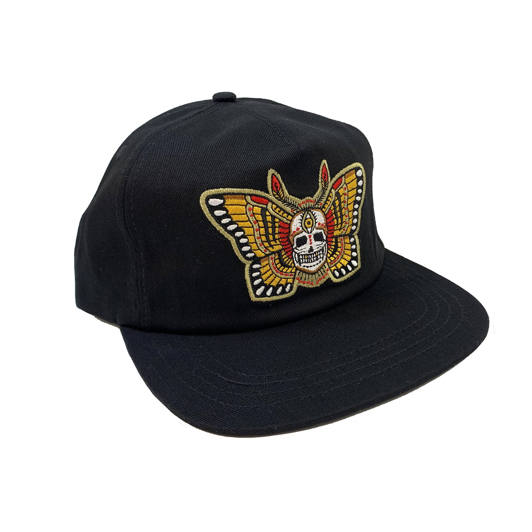Butterfly Skull Unstructured Cap