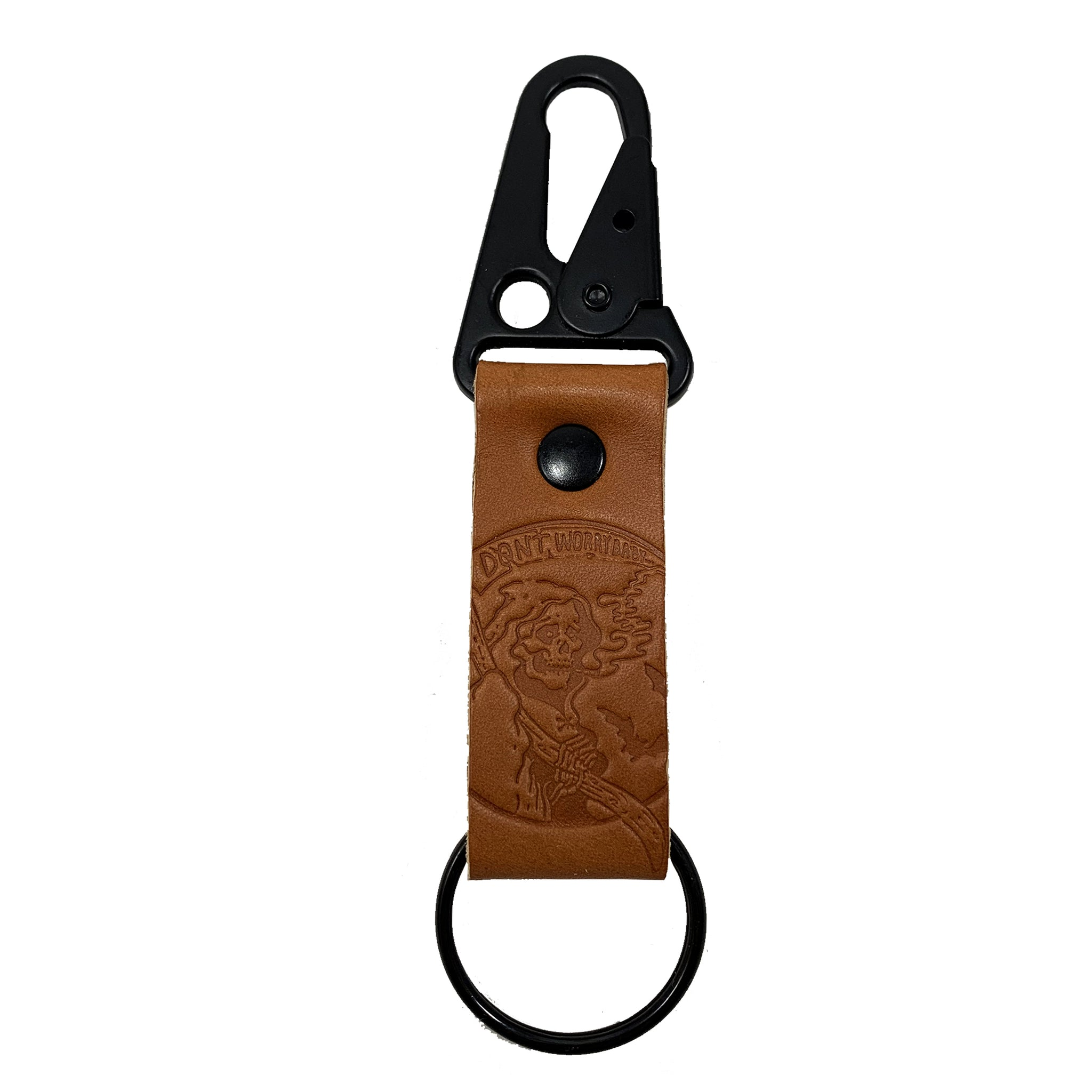 Don't Worry Baby Leather Keychain