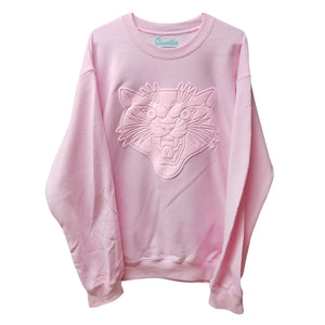 Puffy Pink Panther Crew Neck Sweater