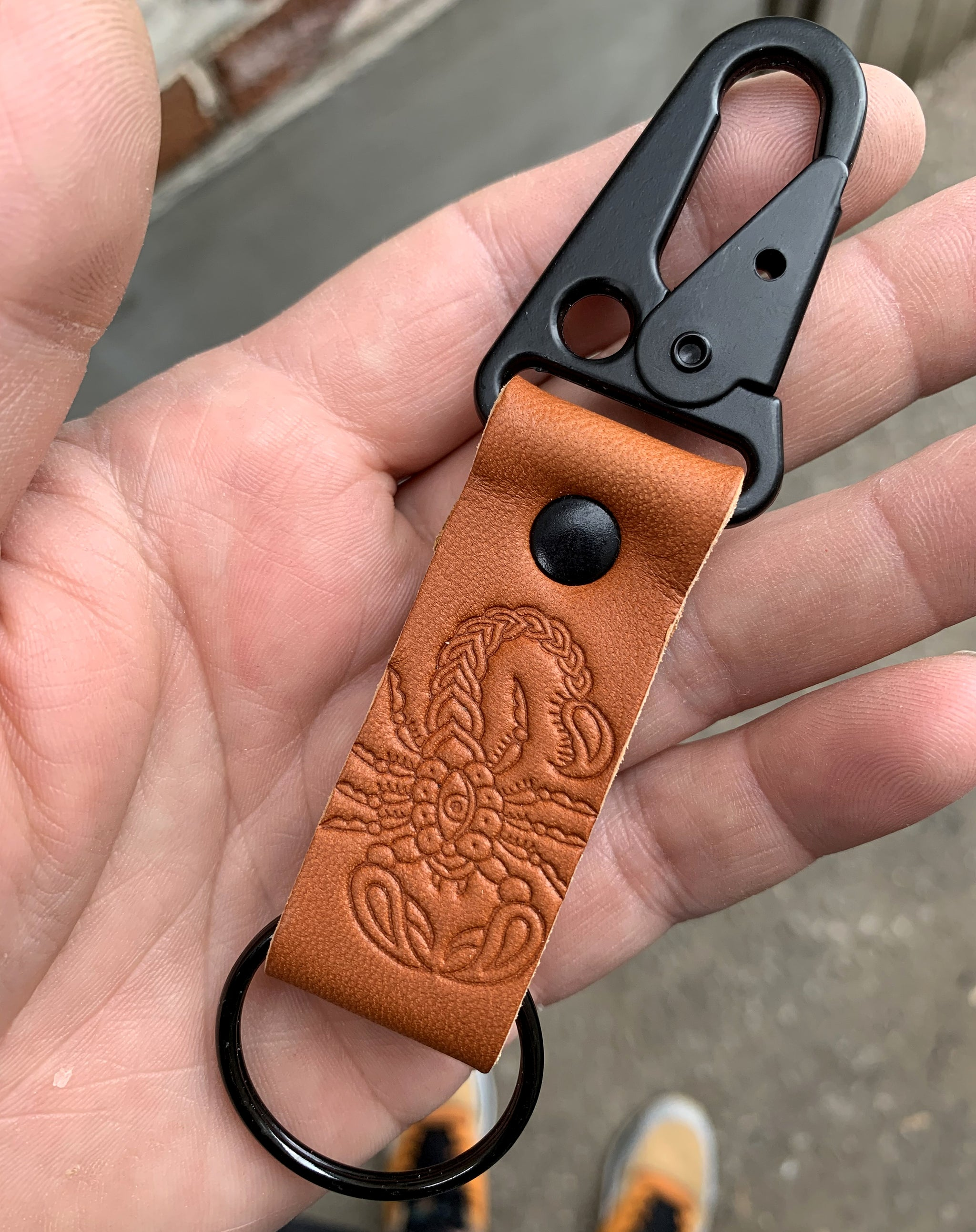 Stinger Leather Keychain